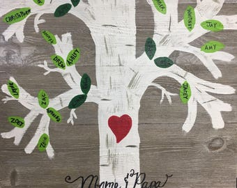 Family Tree on Wood, Pallet Signs, Family Trees, Pallet Family Trees, Hand Painted Family Tree