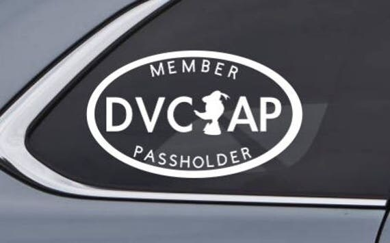 Disney Vacation Club DVC And Annual Passholder AP Dual - Custom vinyl oval decals