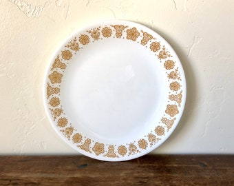 Dinner Plate / Butterfly Gold / Corelle Large Plate / Butterfly Gold Pyrex / Vintage Dishware