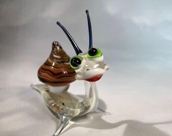Hilarious glass snail