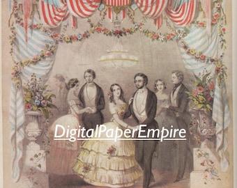 DIGITAL DOWNLOAD - Antique Victorian Image, Scrapbook supply, Digital Ephemera, Digital Paper
