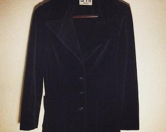 I. MAGNIN ACT 3 80s VTG Velvet Blazer Black Medium