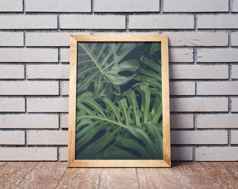 Banana leaf Print-Banana Leaf-Digital Print-Tropical Print-Tropical Leaf Print-Banana Leaf Poster-Banana Leaves Poster-tropical Leaf