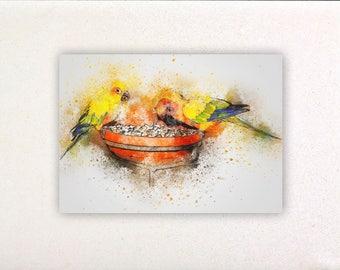 Birds - Watercolor prints, watercolor posters, nursery decor, nursery wall art, wall decor, wall prints 1 | Tropparoba - 100% made Italy