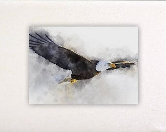 Eagle - Watercolor prints, watercolor posters, nursery decor, nursery wall art, wall decor, wall prints | Tropparoba - 100% made in Italy