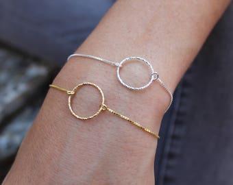 Circle Bracelet, Infinity Bracelet, Dainty Bracelet, Layered Bracelet, Ring Bracelet, Gold Bracelet, Gift For Her, Friendship Bracelet