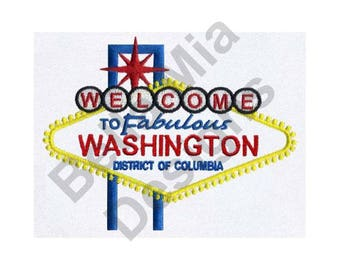 Washington, D.C. - Machine Embroidery Design