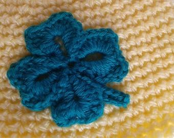 applied crochet 4 leaf clover pattern