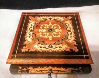 Vintage Italian Reuge wood Music Box