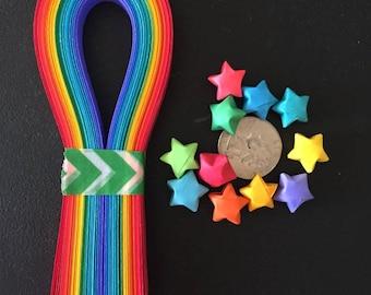 Origami Star Paper Strips, Rainbow (100)