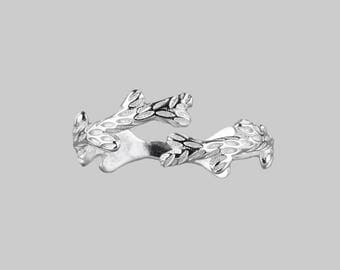 Sterling silver twisted branch ring - eye catching slightly adjustable.