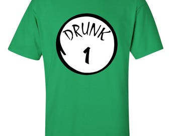 Drunk 1 Drunk 2 Up To Drunk 10 Irish Shirts ST.Patrick's Day Shirts