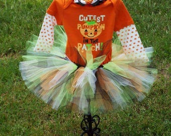 Halloween Pumpkin or Black Cat Tutu SetsNB 0-3 3-6 6-9 12 18 24 month months mths