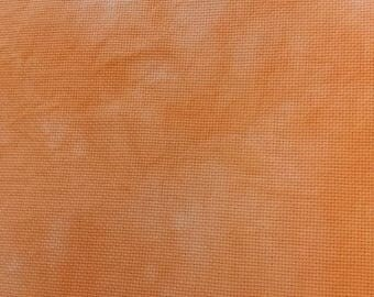 14 count aida hand dyed orange crush