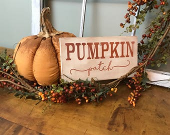 Handcrafted Pumpkin Patch Wood Sign- Fall Decor- Fixer Upper Decor