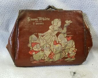Vintage Snow White and the 7 Dwarfs Purse