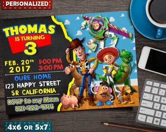 Toy Story Invitation- Toy Story Birthday- Toy Story Birthday Invitation- Toy Story Party- Toy Story Invite- Toy Story Printable- Toy Story