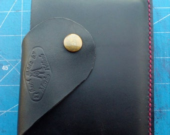 Handmade leather wallet with passport holder, Leather travel wallet, Passport wallet, Passport holder, Leather wallet, Passport cover