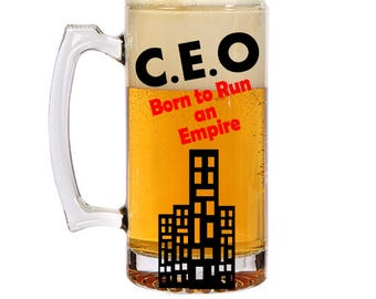 Boss gift, personalized gift for him, christmas gift, dad gift, christmas beer mug, christmas gift for him,  gift for her