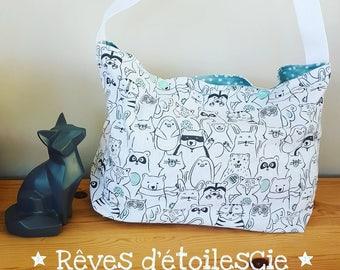 Diaper bag hidden animals