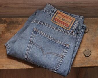 Vintage Diesel Jeans , 30 waist , Diesel Straight Leg Jeans , Denim Pants , Button fly Jeans , Diesel Industry jeans , Mid rise Diesel jeans