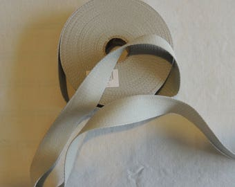 Strap bagagere cotton grey width 3 cm