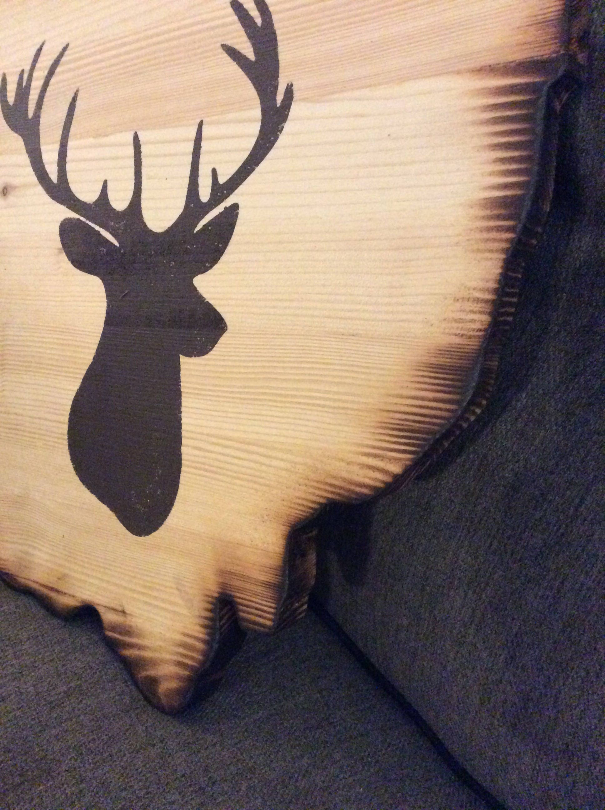 Wooden Ohio Wall Hanging with Brown Buck, Hunting Decor, Hunting ...