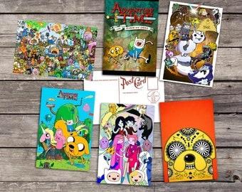 Adventure Time set 6 postcards | finn and jake art post cards | princess bubblegum poster | marceline art print  | PaperBunnyShop