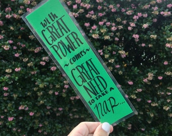 With Great Power - Percy Jackson Bookmark