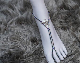 Metallic Anklets/ barefoot sandals