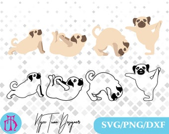 Dog Yoga svg,png,dxf/Dog Yoga clipart for Print,Design,Silhouette,Cricut and any more