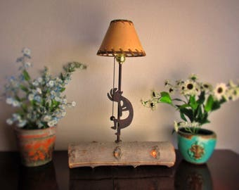 Kokopelli Rustic  Cabin Table Lamp