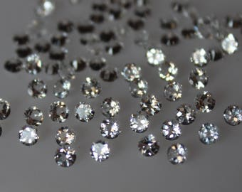 4 mm White Topaz round Faceted  Loose Gemstone AAA Quality