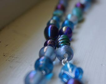 Iridescent Blue and Purple Necklace