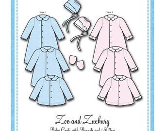 Bonnie Blue Designs 111 - Zoe and Zachary / Sizes Preemie, Newborn, 3 Mos., 6 Mos.