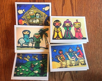 Christmas card set, advent cards, nativity cards, christian cards, nativity card, card set, holiday cards, cards, holiday card set