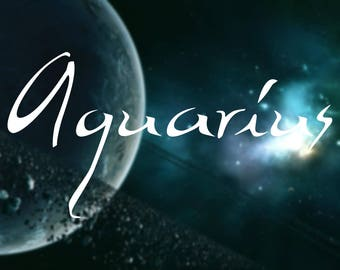 Aquarius Name Decal