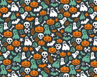 Blue and orange halloween