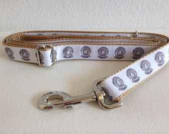 Adjustable Dog Leash, Tan Adjustable Dog Leash, Designer Dog Leash, Tan Dog Leash