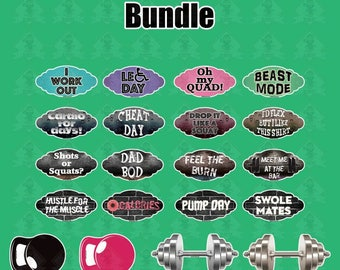 Fitness Bundle | 20 Signs (10 Pieces)