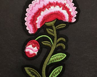 Embroidered Flower Applique - Iron On Patch