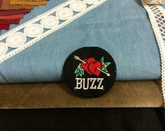 Cupid's arrow badge iron on patch ,buzz patch ,jacket patch ,denim patch, hat patch, DIY