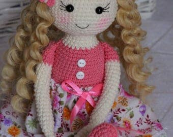 Crochet Doll Pattern Amigurumi Doll pattern Amigurumi Tutorial Doll Pattern Toy PDF Pattern in English