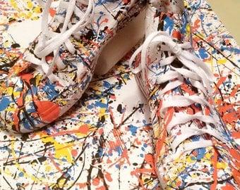 Splatter Paint Converse Shoes