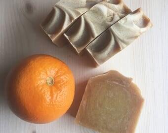 sweet orange + ginger soap