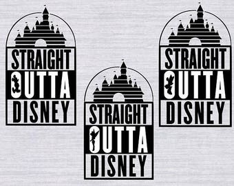 3 SVG Designs, Straight Outta Disney svg files, Straight Outta Disney clipart, disney svg files, disney vector, dxf, disney cuttable file