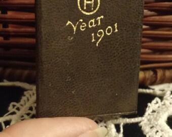 Vintage 1901 Mini Calendar/ never used
