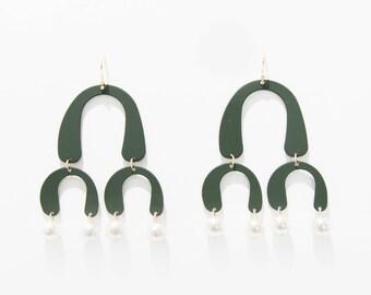 OLIVE MATTE EARRINGS
