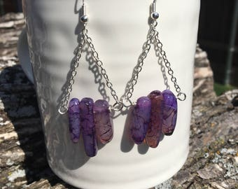 Purple Agate Chain Chandeliers