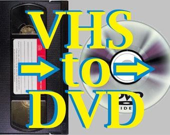 VHS to DVD/Digital: HD 1080p Quality
